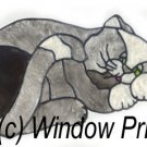 Sleeping Cat Stained glass Window Cling Suncatcher