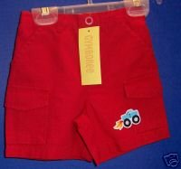 *NWT* GYMBOREE Boys Red Ripstop Shorts 6-12 M