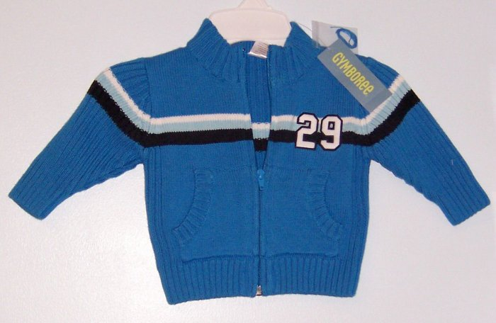 *NWT* GYMBOREE All Star champ Blue Zip sweater 6-12