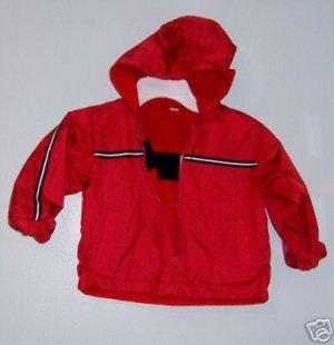 Boys Reversible Fleece/ Nylon Red Jacket 24M