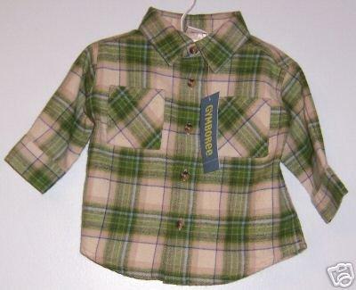 NWT GYMBOREE Tractor Company Flannel LS shirt SZ 3-6M