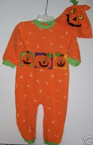 2 piece 6-12 month Pumpkin Costume Excellent Condition