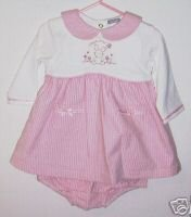 NWOT 2 Piece Carters Easter Bunny Love Me Dress 9M
