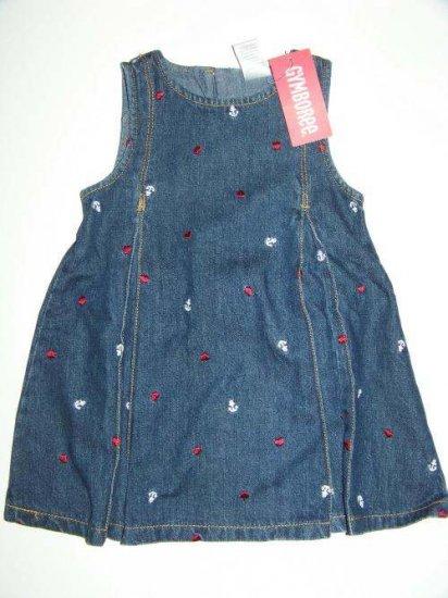 NWT GYMBOREE Bon Voyage Heart & Anchor Dress 12-18M