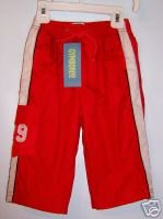NWT GYMBOREE All Star Champ Red Lined Windpants 12-18M