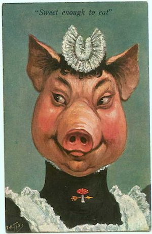 Dressed Pig - French Maid Fantasy - Arthur Thiele s/a - 101