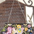 $16**black & multi-colored embellishment clutch