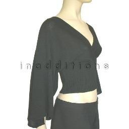 inadditions : New RAMPAGE Deep V-neck Crossover Tie Back Kimono Sweater Top Shirt Juniors Medium