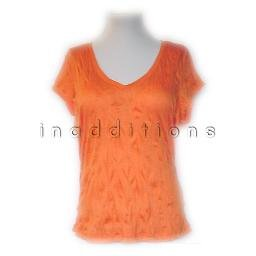 inadditions : New INC INTERNATIONAL CONCEPTS V-Neck Rayon Crinkle Tee Shirt Top Women's Large
