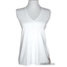 inadditions : New CABLE and GAUGE White Faux Crossover Wrap Top Shirt Women's Extra Large X-LARGE