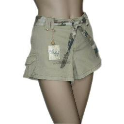 inadditions : New PLUGG Olive Cotton Spandex Short Cargo Shorts Camouflage Tie Belt Juniors 11