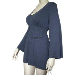 inadditions : New SUNNY LEIGH Navy Blue Empire Waist Bell Sleeved Top Shirt Women's Extra Large