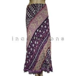 inadditions : New SUNNY LEIGH Silk Boho Floral Print Lined Pull-On Straight Skirt Women's Large