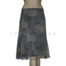 inadditions : New CALVIN KLEIN Silk Abstract Floral Print Skirt Fully Lined Women�s 12 Large