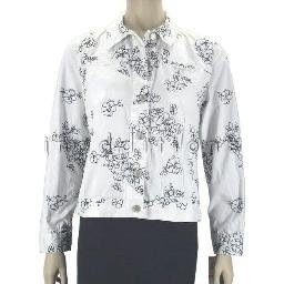 inadditions : New CHARTER CLUB White Button Up Floral Embroidered Jacket Women's Petite Small P/S