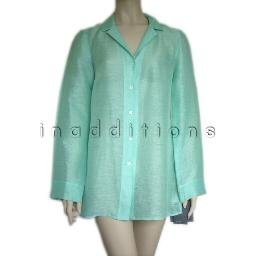 inadditions : New LIZ CLAIBORNE Linen and Silk Blend Sheer Jacket Top Shirt Women's 8 Medium