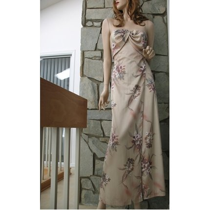 Vintages 70s does 40s Goddess Draped Bodice Evening Dress XS
