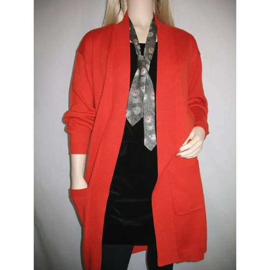 Vintage 80s Red Duster Cardigan Coat Sweater - S Small - M Medium
