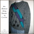 Vintage 80s Punk Abstract Sweater Artsy Geometric Pullover by 'Concrete'  - Extra Large