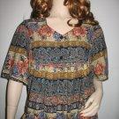 Hippie Boho Gypsy Festival Dress Blue and Peach