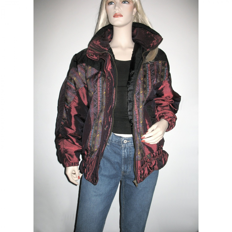 Sassy Boho Street Look Ski Jacket Puffer Coat Vintage Bomber