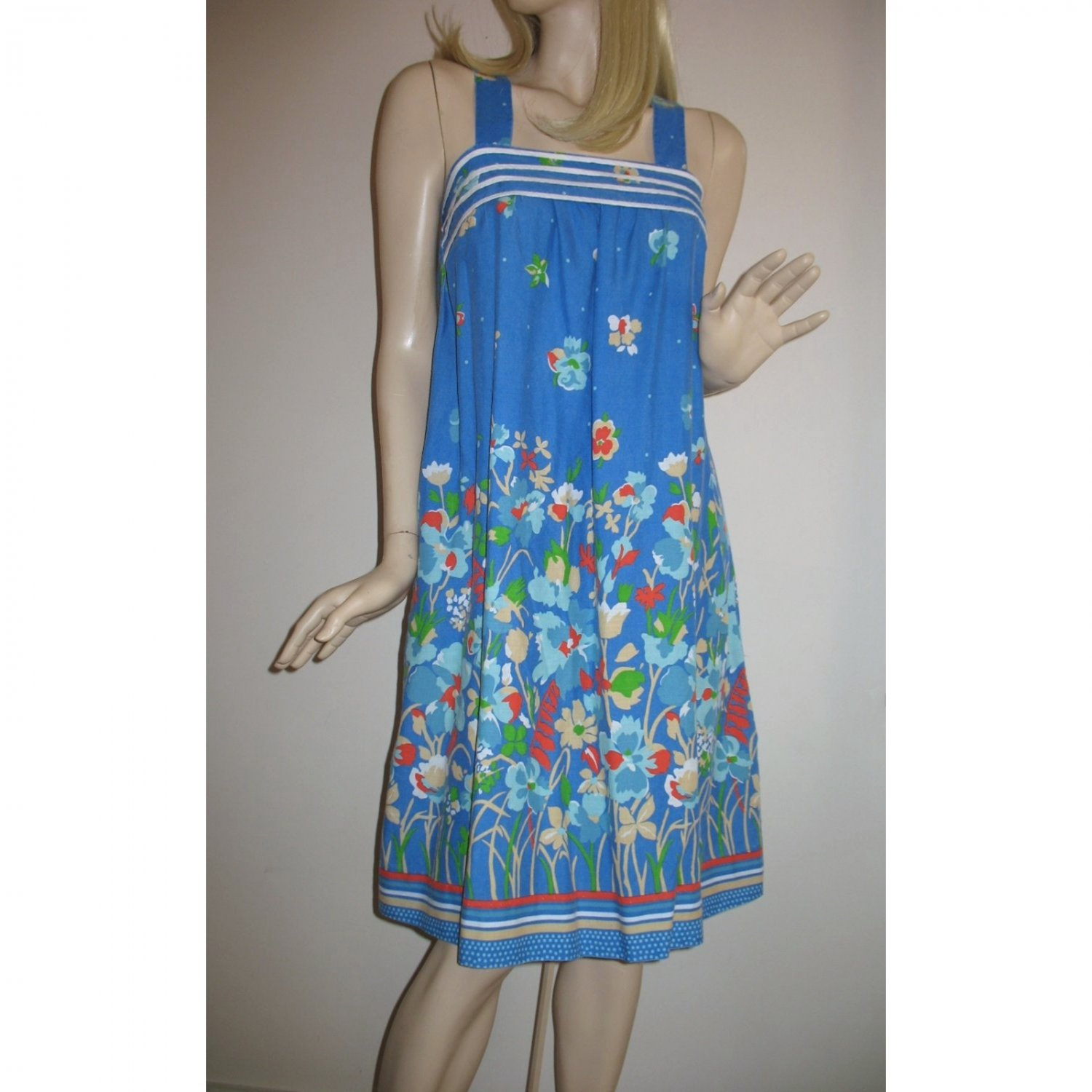 Vintage 60s Sundress / Tent Dress / Resort Wear Casual Style Dress - Size S/Small