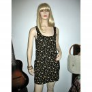Vintage Mini Dress Sundress Ditsy Black Grunge Florals size S/Small