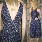 Vintage 70s Small Florals Gunne Sax Wrap Dress Sundress   XS/S Jessica McClintock