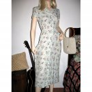 Vintage Grunge Revival Fashion Long Dress Small Floral Wildflowers Print S/Small