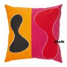 IKEA BETTAN Modern ART Euro Pillow Case Sham RED Orange