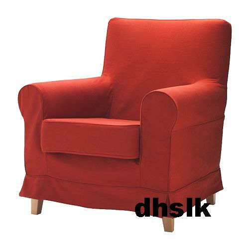 IKEA JENNYLUND Armchair Slipcover Cover LINDEFALL RED