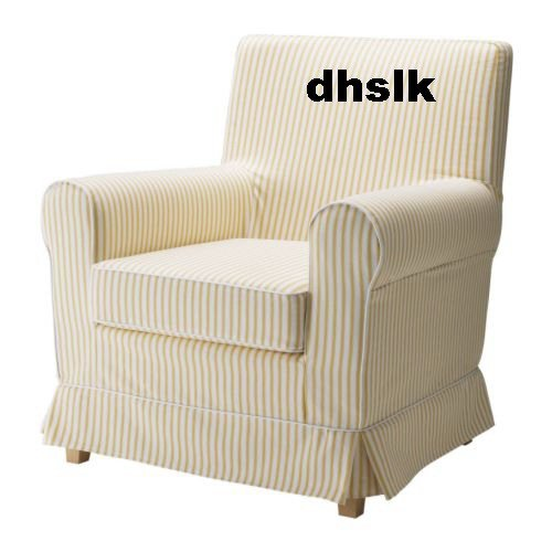 IKEA JENNYLUND Armchair Slipcover Cover RORVIK YELLOW Stripes
