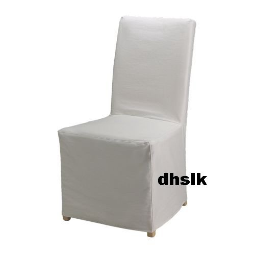 IKEA HENRIKSDAL Chair SLIPCOVER Cover BLEKINGE WHITE Skirted