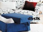 IKEA Ektorp BROMMA Footstool SLIPCOVER Cover HILLSAND BLUE