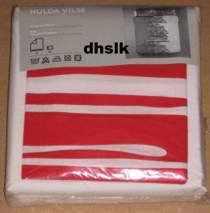 Ikea hulda vilse red white king duvet cover set modern for Euro shams ikea