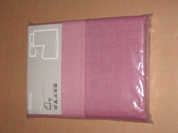 IKEA MALOU Light PINK Quilt DUVET COVER Set KING Yarn Dyed Soft