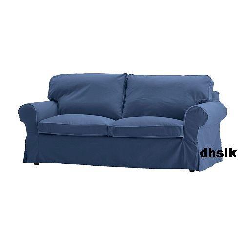 Ikea ektorp 2 seat sofa loveseat slipcover cover hillsand blue Blue loveseat slipcover