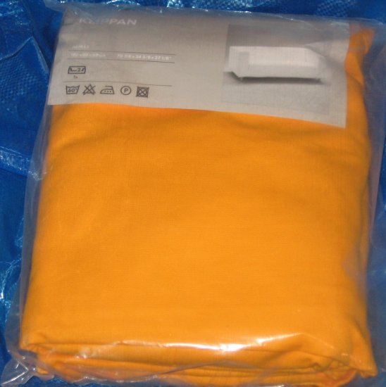 New IKEA KLIPPAN 2 Seat Sofa SLIPCOVER Cover ALMAS YELLOW