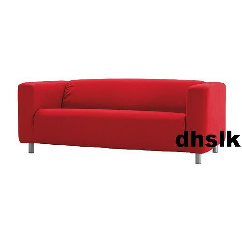 New IKEA KLIPPAN Loveseat Sofa SLIPCOVER Cover ALMAS RED