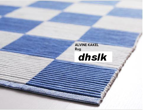 IKEA BLUE White ALVINE KAKEL Country Checked Area RUG Runner