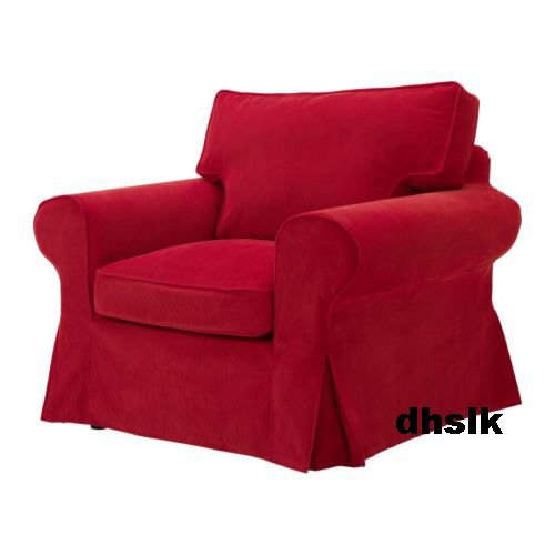 New IKEA EKTORP Armchair SLIPCOVER Cover LEABY RED Corduroy