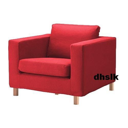 IKEA KARLANDA Armchair SLIPCOVER Cover SKANUM RED Bezug