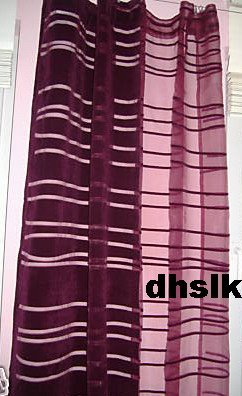 New IKEA ANDREA RAND Curtains Drapes PURPLE Mod RETRO 2 Panels - Purple Curtains Ikea