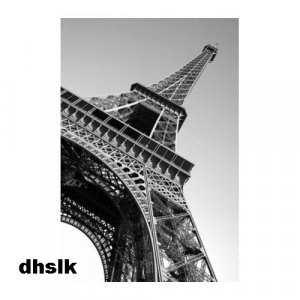 IKEA Premiar EIFFEL TOWER Paris CANVAS WALL ART Print HUGE B/W