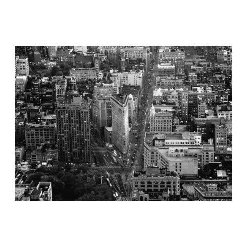 IKEA Premiar NEW YORK Flatiron CANVAS WALL ART Print HUGE B/W NY
