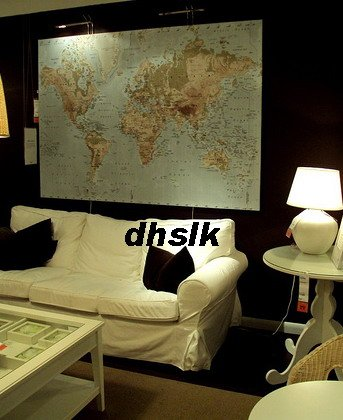 Ikea wall art map ready to hang frames pictures ikea with ikea premir world map canvas wall art print huge premiar last one gumiabroncs Gallery