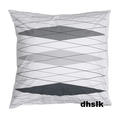 ikea kilan black white diamond pillow sham cushion cover