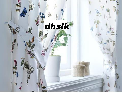 IKEA ALVINE V�XT Vaxt Drapes CURTAINS Floral BOTANICAL HTF