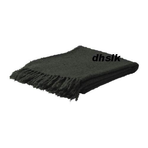 IKEA RITVA Dark GRAY Grey Throw BLANKET Afghan SOFT Mohair Blend