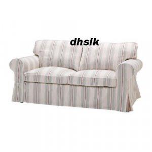 ikea ektorp sofa bed cover sigsta stripes bettsofa bezug slipcover sofabed. Black Bedroom Furniture Sets. Home Design Ideas